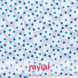 LIVIA EST. Devoré cotton printed fabric.