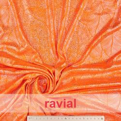FANTASIA MIRTO. Shiny knit fabric.