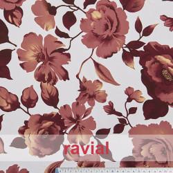 NATASHA. Drape crêpe fabric for flamenco dresses, floral print.