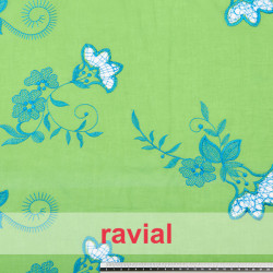 BORDADO 13. Embroidered batiste fabric with cotton thread.