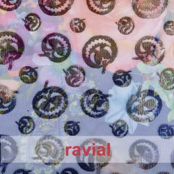 FANTASIA LABU. Printed tulle fabric.