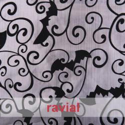 FANTASIA OMO. Lurex fabric, like paper. Flocked fabric.