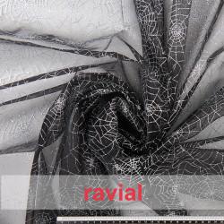 FANTASIA TELARAÑA. Organza fabric with glitter print.