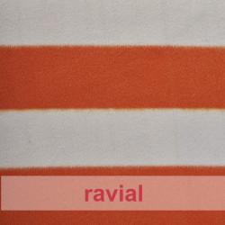 ANIMALIA PELDI. Article en fourrure synthétique poils courts. Imprimé à rayures.