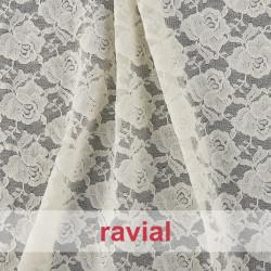 BLONDA SIXTY. Stretch lace fabric.