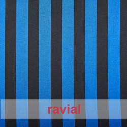 RASO ESTP-RAYAS. Tissu satiné. Imprimé à rayures de 2 cm.