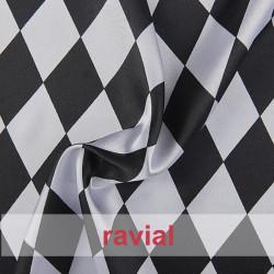 RASO ESTP-ARLEQUIN. Satin fabric. Harlequin print.