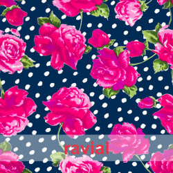 POPELIN MICRO FIBRA ESTP. Poplin fabric with antibacterial and waterproof treatment, permanent in multiple washes. Floral print.